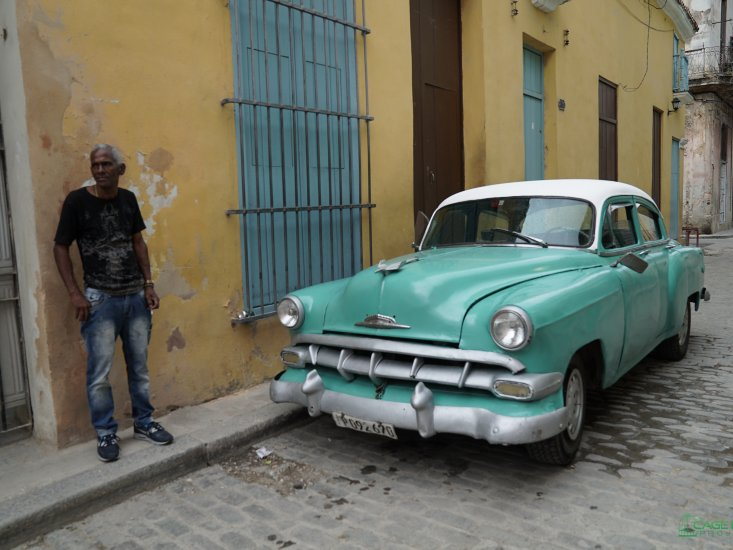 A Man and His Car: Cuba a photo by Lawrence R. Greenberg